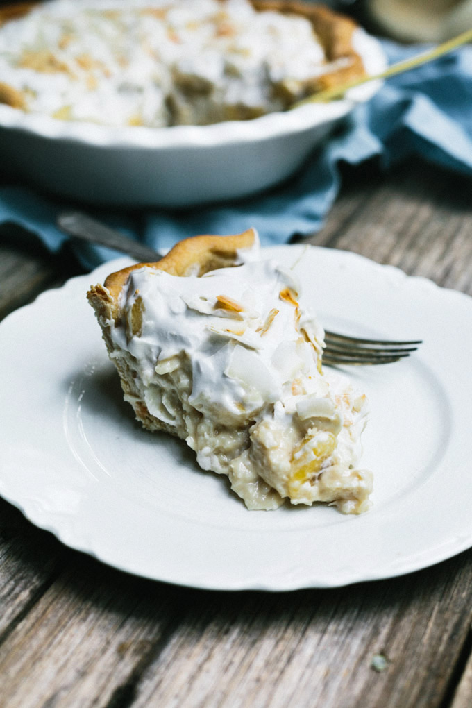vegan banana coconut cream pie 2