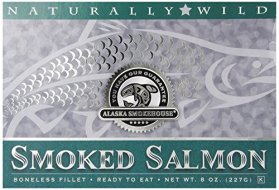 Alaska Smokehouse Smoked Salmon Fillet In Green, 8 Ounce Gift Box