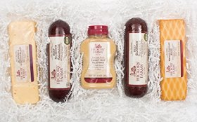 Hickory Farms Deluxe Signature Beef Sausage & Cheese Gift Basket