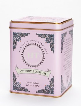 Harney and Sons Cherry Blossom, Flavored Green 20 Sachets per Tin