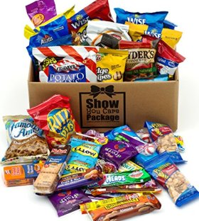 Show You Care Package (48 Count) With Snack Gifts Best Gift For College Student And Thank You Care Package