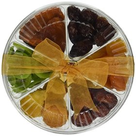 Healthy Tropical Dried Fruit Gift Tray 2 Pounds – 6 Section – Oh! Nuts