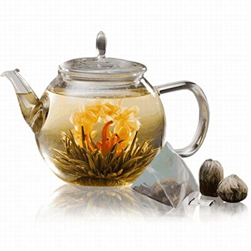 Teaposy Celebrate Gift Set Blossoming Tea Sachets Glassware Clear – Teaposy TP-GIFTCE