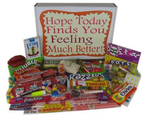 Get Well Soon Retro Nostalgic Candy Gift Basket Box