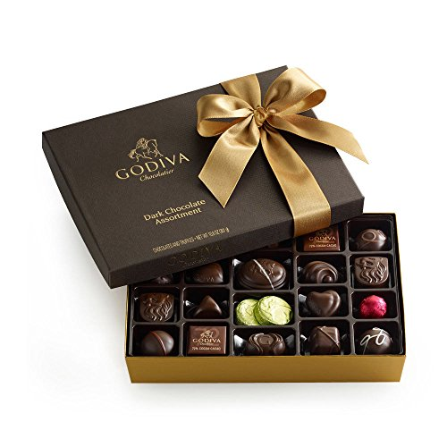 GODIVA Chocolatier 27 pc. Dark Chocolate Gift Box – Classic