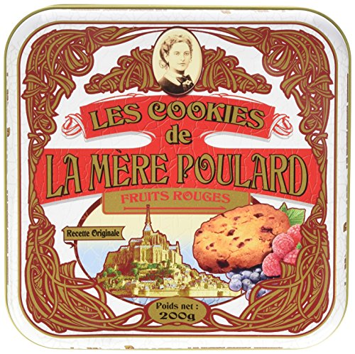 La Mere Poulard – Red Berries Cookies From France – Galettes aux Fruits Rouges, Gift tin 7oz
