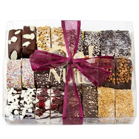 Luxurious Biscotti Dessert Gift Box, Handmade Italian Style , 12 Chocolate Covered Flavors (24 Pieces), Great as a holiday gift or every day treat! – Oh! Nuts