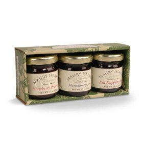 Gourmet Jam & Preserves 3-Jar Sampler Pack – 1.5 oz Jars – by Maury Island Farms (Pack of 4)