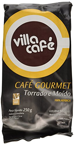 Villa Cafe Single Origin Gourmet Coffee Roast Ground 8.81oz (PACK OF 04)
