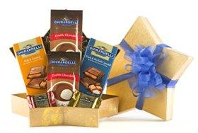 Wine.com Stellar Ghirardelli Chocolate Gift Basket