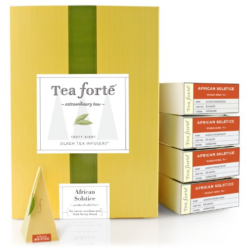 Tea Forte Event Box – 48 Silken Pyramid Infusers – African Solstice