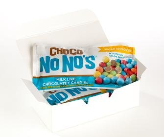 Chocolate ChocoNoNos (3 Pack) Naturally Colored, Vegan, Milk Free, Nut Free Chocolate Candy