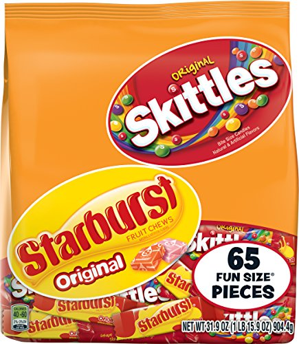 Skittles and Starburst 31.9 Ounce Fun Size Bag, Original