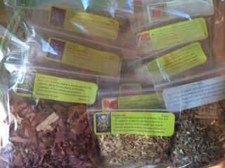 Herbal Collection: 15 Herb Starter Set ~ Ravenz Roost herbs ~ 1/2 oz ea ~ Wicca ~ Spells