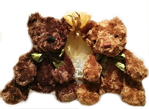 2 Brown Teddy Bears & 2 Dozens Hershey's® Kisses Gift Valentines Day