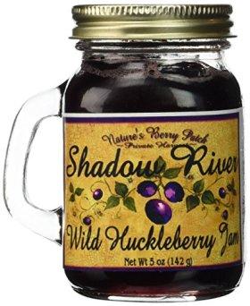 Shadow River Wild Huckleberry Gourmet Jam, 5oz Shaker Jar (Pack of 2)