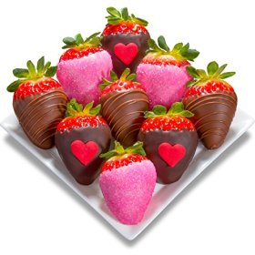 Golden State Fruit Chocolate Covered Strawberries, 9 Love Bites Valentine