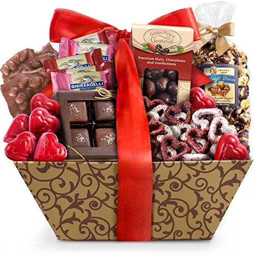 Golden State Fruit Valentine Chocolate Galore Gift Basket