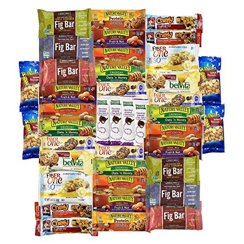 Healthy Bars & Snacks Variety Pack Bulk Sampler (40 Count)