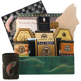 Art of Appreciation Gift Baskets Bounty of the Sea Seafood and Smoked Salmon Gift Basket