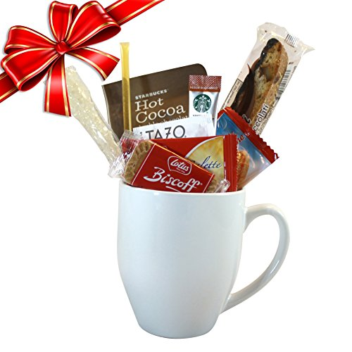 Cottage Lane Coffee Mug Gift Set With Starbucks Via Coffee