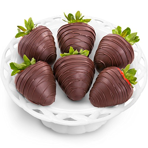 Golden State Fruit 6 Piece Dreamy Dark Chocolate Covered Strawberries