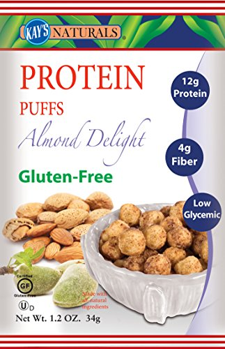 Kay's Naturals Protein Puffs, Almond Delight, 1.2 ounces (Pack of 6)