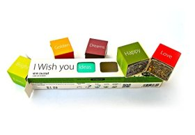 I WISH YOU Tea Gift Set – Make Own Unique Custom Wish! – Loose Leaf Teas Gift Box (6 Teas I WISH YOU Tea Gift Set)
