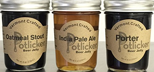 Set of 3 Jars of Beer Jelly – IPA, Porter and Oatmeal Stout