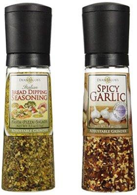 Dean Jacob's Grinder Set – Spicy Garlic and Italian Bread Dipping Seasoning