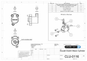 Ducati Clutch Slave Cylinder 29mm By Oberon Performance