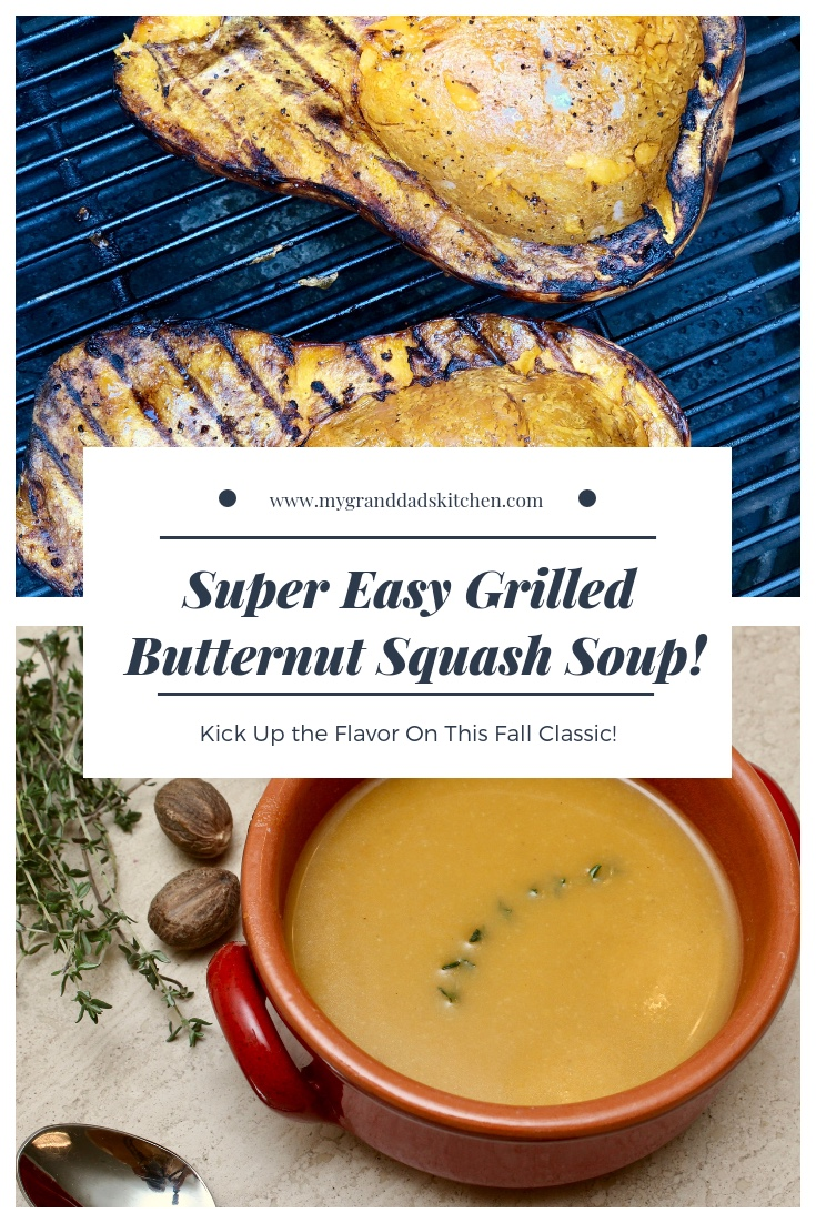 This Super Easy Grilled Butternut Squash Soup is sure to become a Fall Favorite