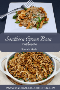Green bean casserole has long been a staple on Southern Thanksgiving Tables. This scratch made version is easy and adds so much flavor that will have you coming back for seconds.