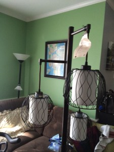Costco lamp and Target lamp