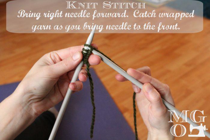 Knit Stitch Tutorial step 4