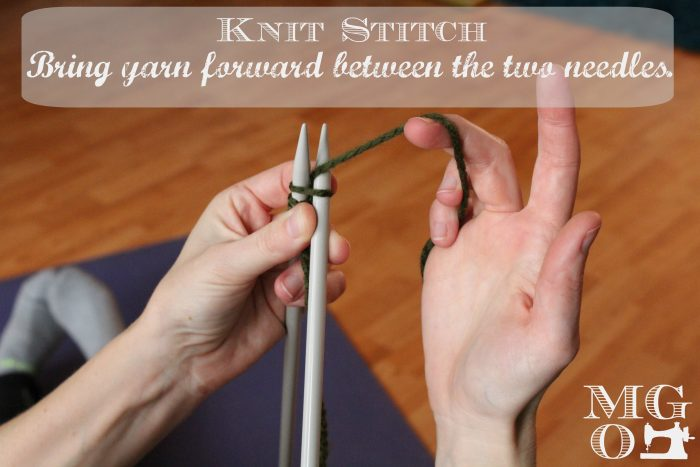 Knit Stitch Tutorial - step 3