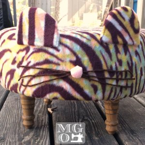 tiger footstool custom order