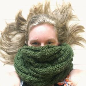 Liz Sheffield green scarf