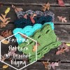 Listing photo for Arcade Scallop Cowl showing stack of cowls and text to indicate listing is for the pattern only