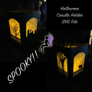 Halloween Display Candle Holder - SVG File - My Graphic Fairy