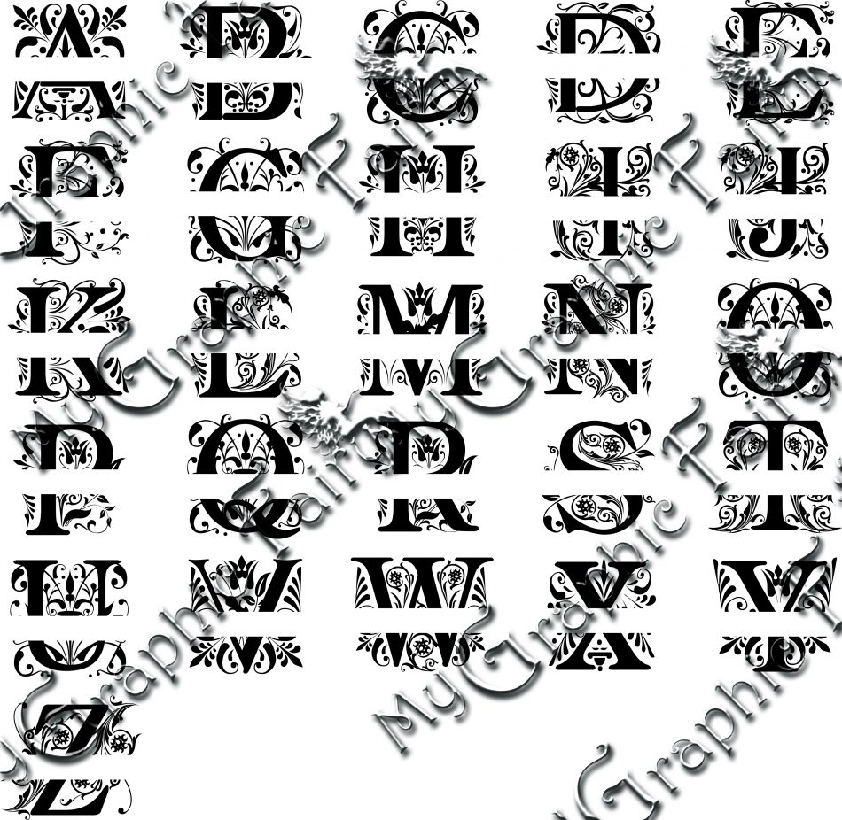 Regal Font Split Monogram How To Use Video My Graphic