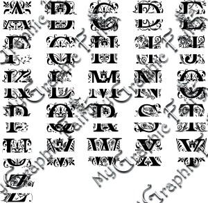 Regal Font Split Monogram Svg My Graphic Fairy