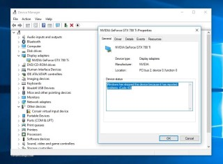 Graphics Device Driver Error Code 43 Solutions