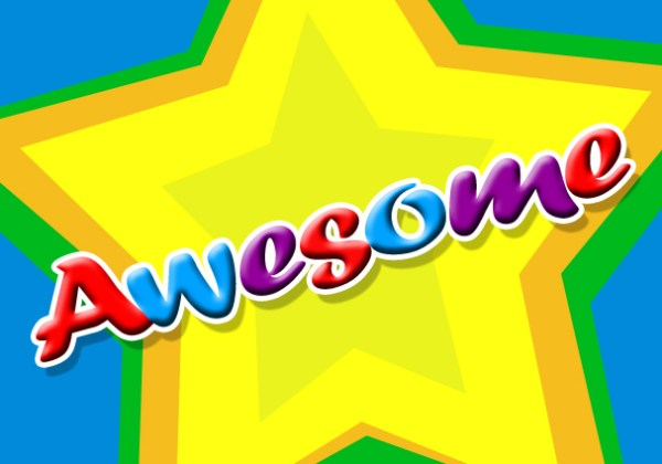 awesome colourful stars graphics