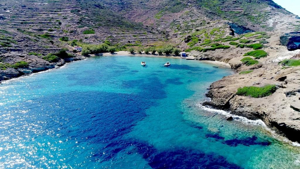 Kimolos Apollonia shore line