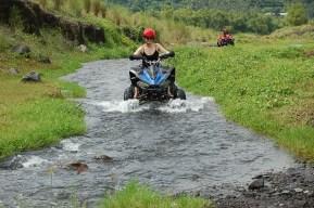 Riding along the stream...