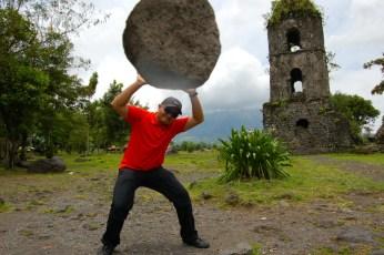 Carrying a boulder