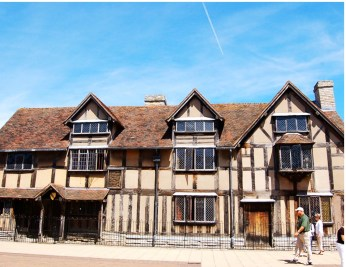 Shakespeare's birthplace on Henley Street is where he was born. A Tudor half-timbered building, the birthplace was for many years divided into two houses but is now one.