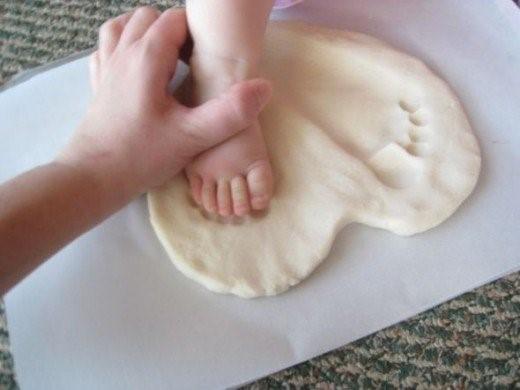 Best Griha Pravesh Gift - Salt Dough Footprint Stepping Stone