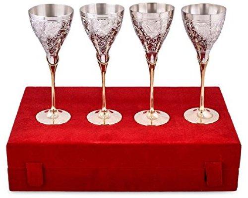 Set of silver Glasses - Griha Pravesh Gift Item Ideas